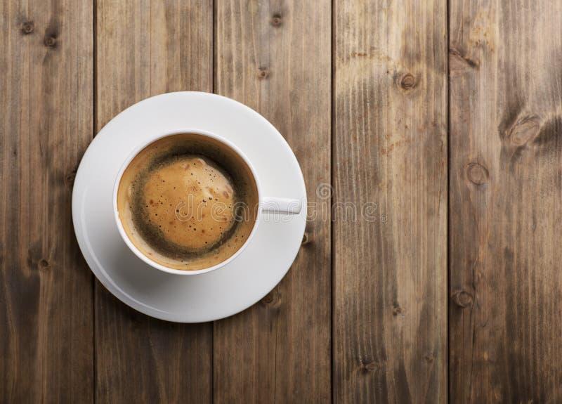 咖啡杯顶视图 图库摄影