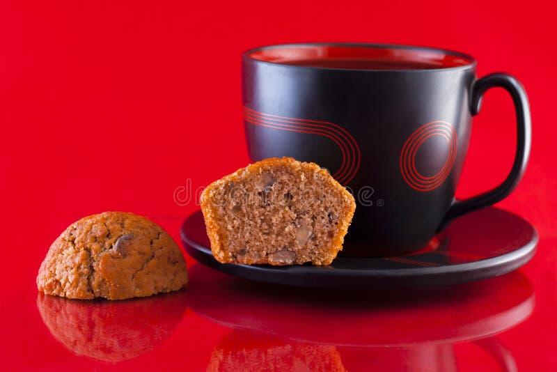 咖啡松饼 免版税图库摄影