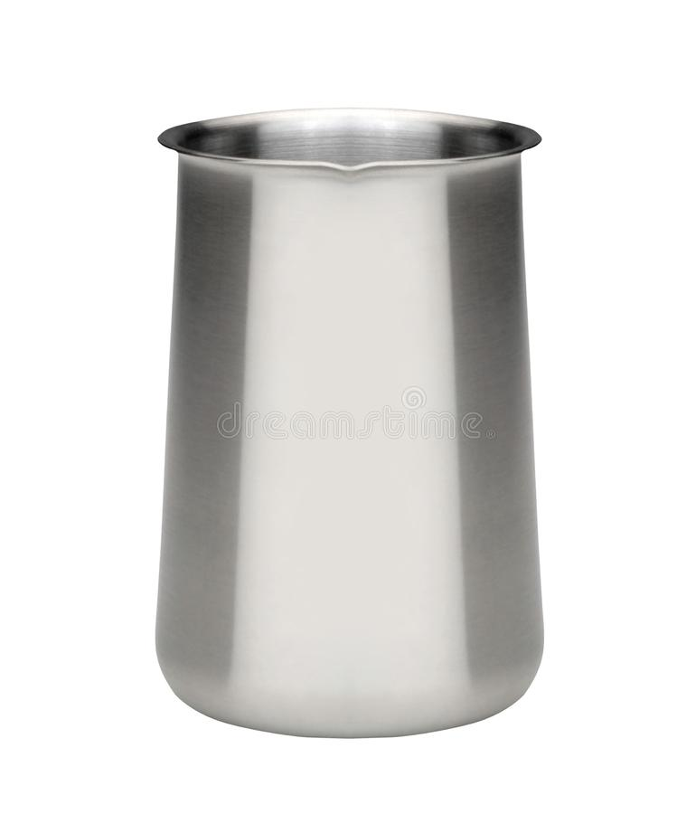 咖啡查出的罐白色 免版税库存图片