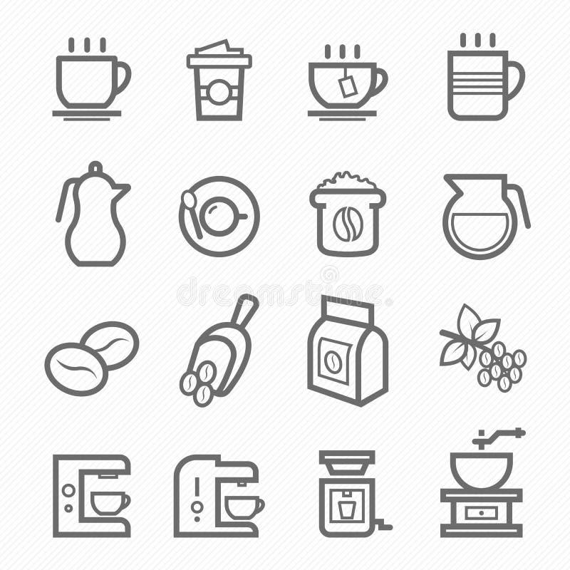 咖啡标志线象集合 库存例证