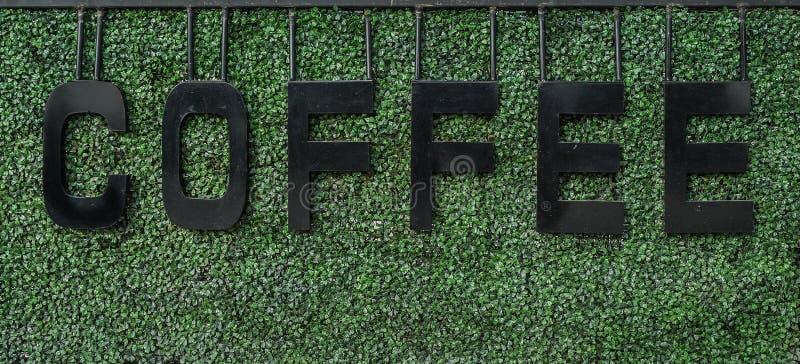 咖啡标志 图库摄影