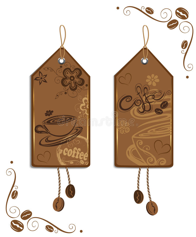 咖啡标签 向量例证