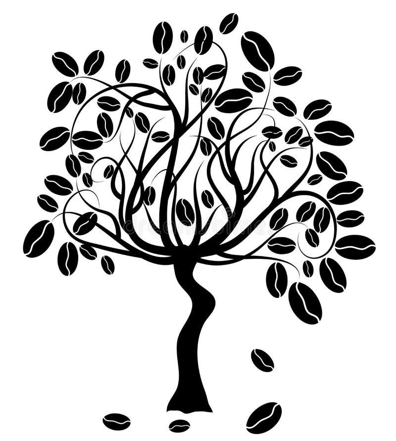咖啡树 库存例证