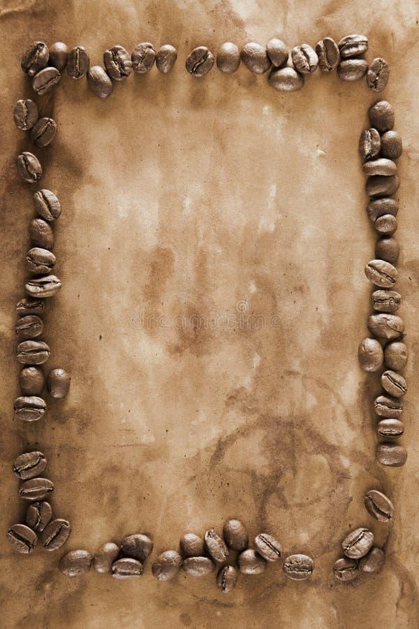 咖啡框架grunge 库存照片