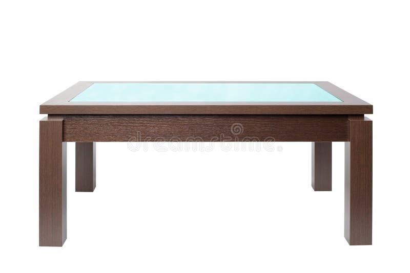 咖啡桌木头 免版税库存照片
