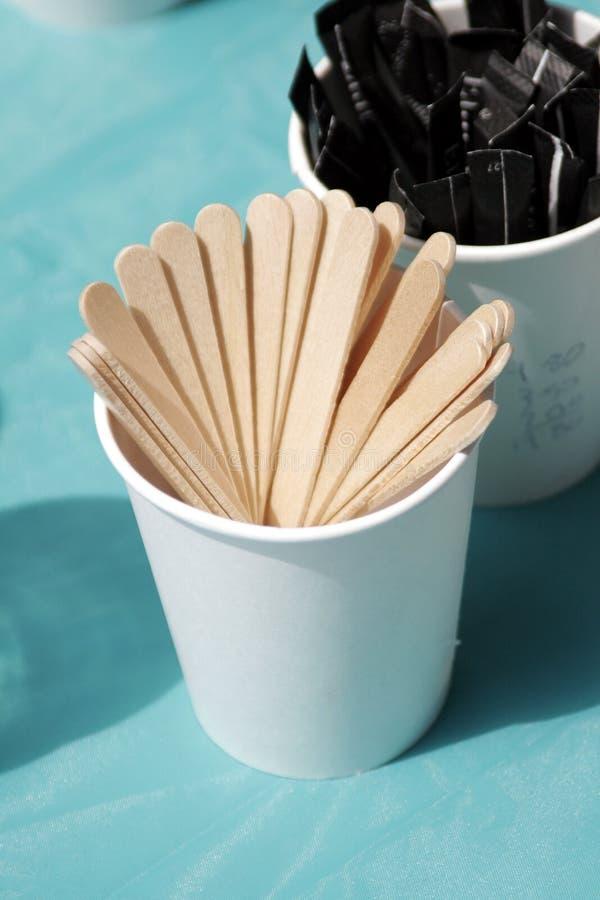 咖啡棍子 免版税库存照片
