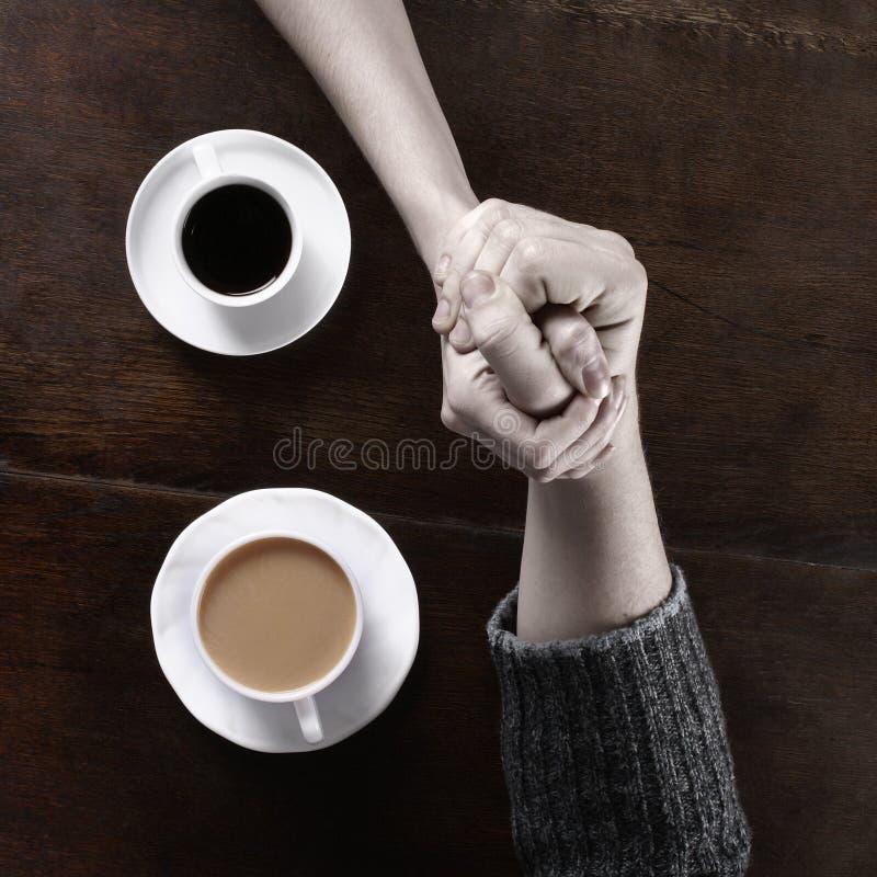 咖啡概念爱 库存图片