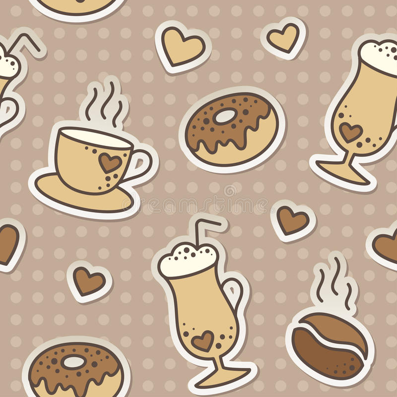 咖啡模式 库存照片