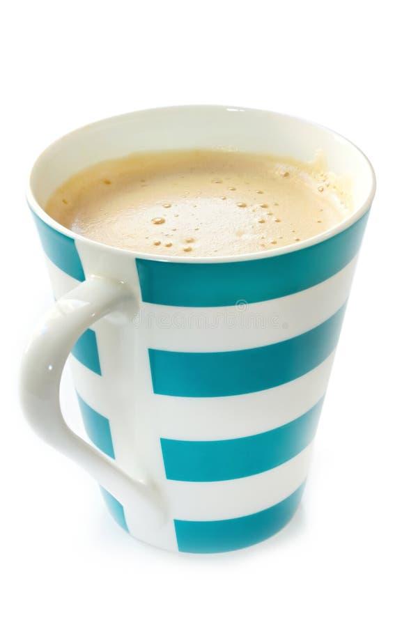 咖啡泡沫的杯子 图库摄影