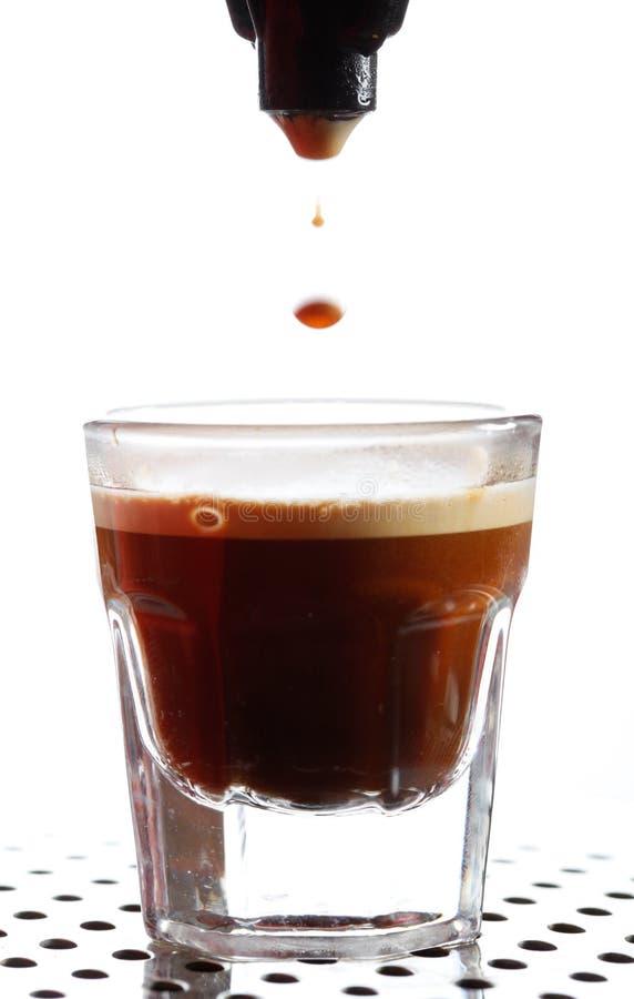 咖啡浓咖啡射击 库存照片