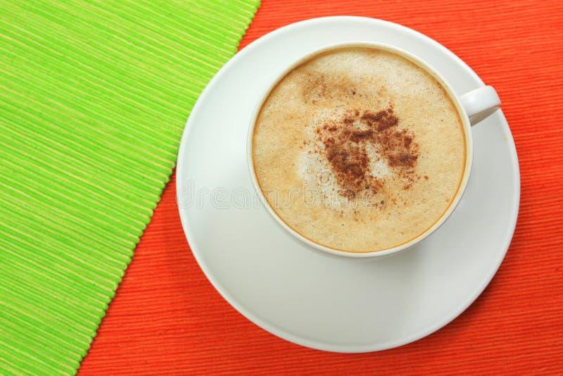 咖啡热奶咖啡 免版税库存照片