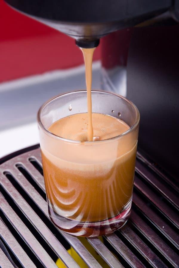 咖啡热射击 免版税库存照片