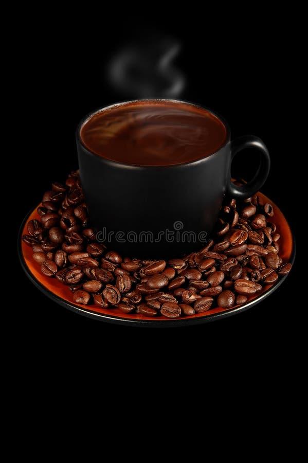 咖啡热蒸 库存图片