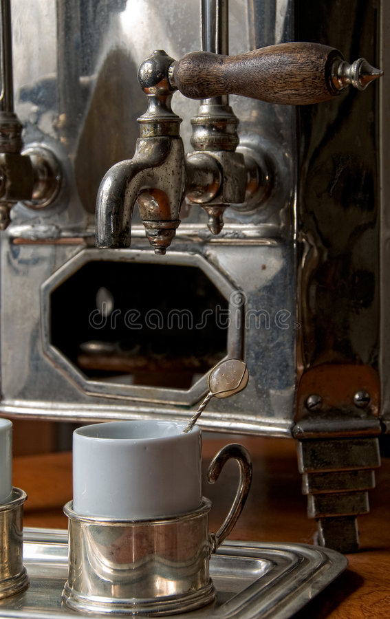 咖啡热设备老葡萄牙 免版税图库摄影