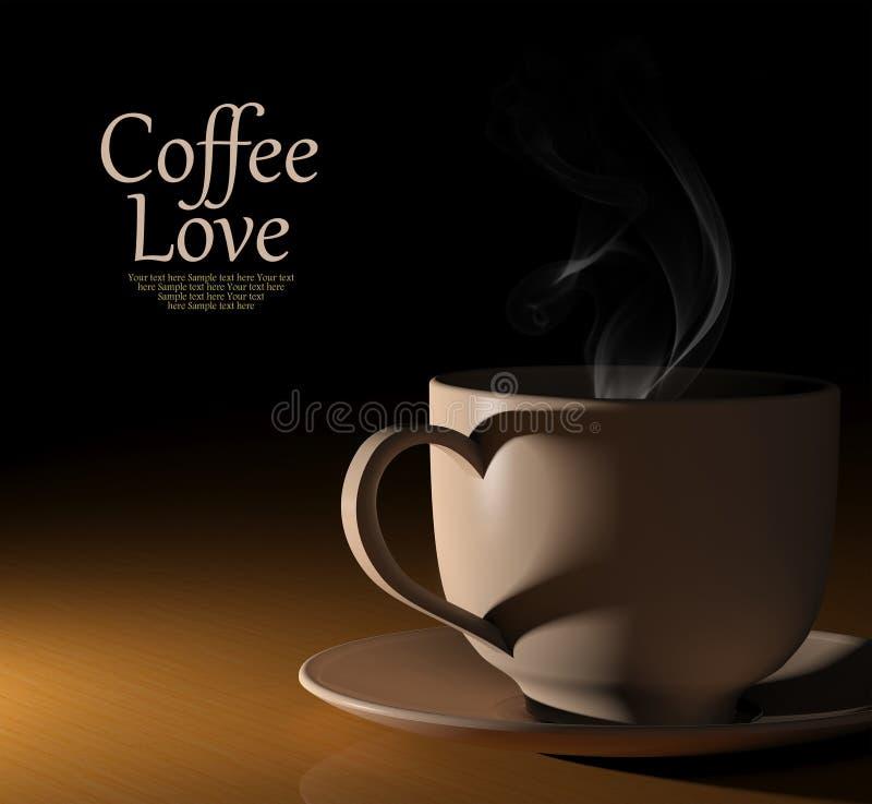 咖啡爱。 温暖的咖啡 免版税库存图片