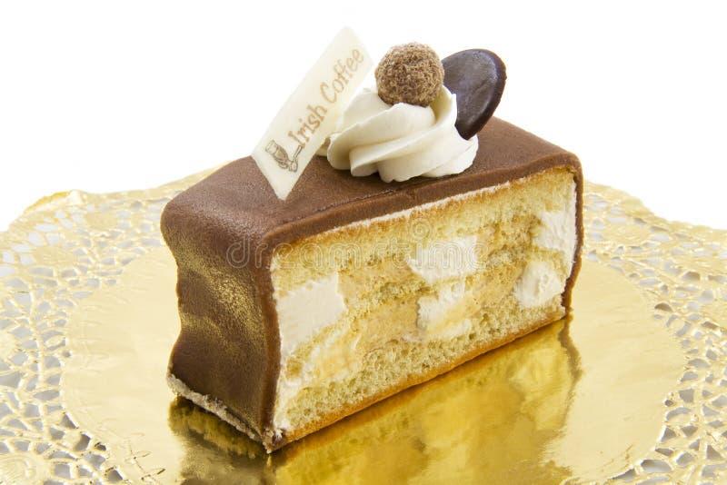 咖啡爱尔兰饼甜点 免版税库存照片