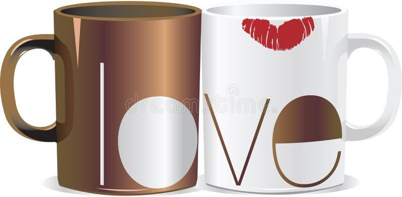 咖啡爱 向量例证