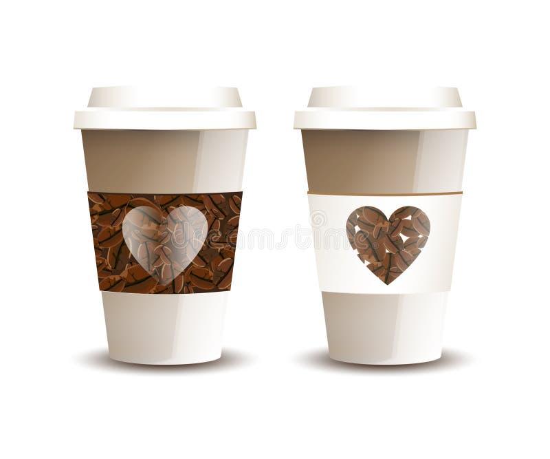 咖啡爱 皇族释放例证