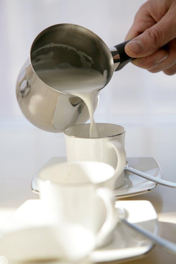 咖啡牛奶 免版税库存图片