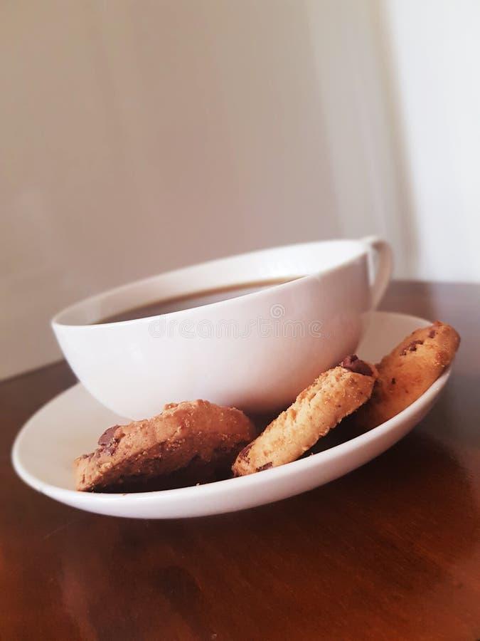咖啡用曲奇饼 免版税库存图片