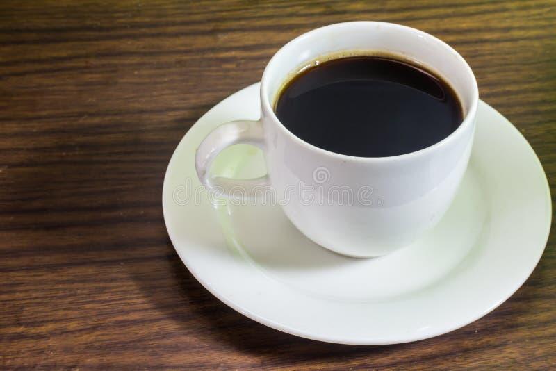 咖啡白色玻璃 免版税库存图片