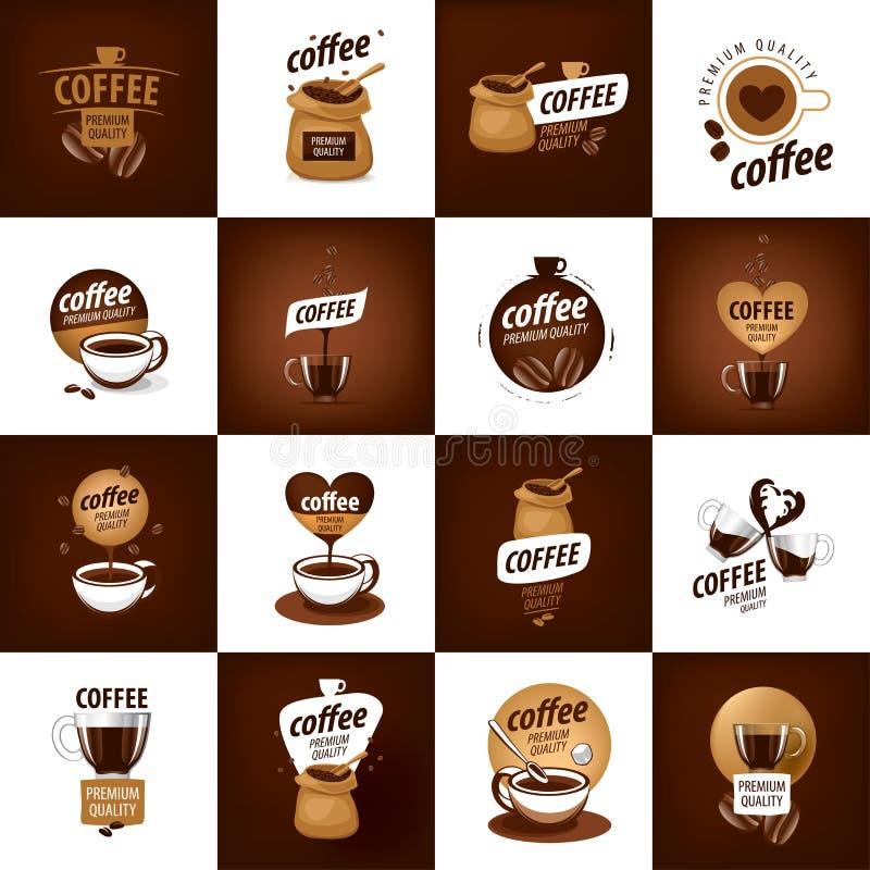 咖啡的传染媒介商标 向量例证