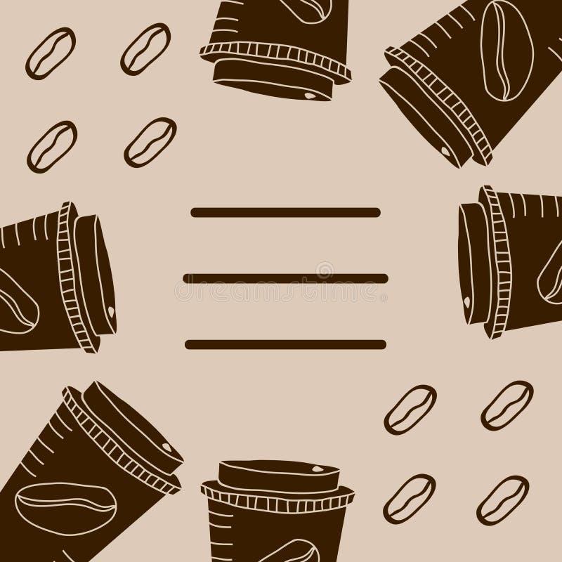 咖啡的布朗杯子 库存图片
