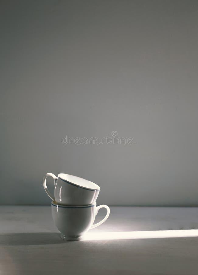 咖啡的葡萄酒杯子 免版税库存照片