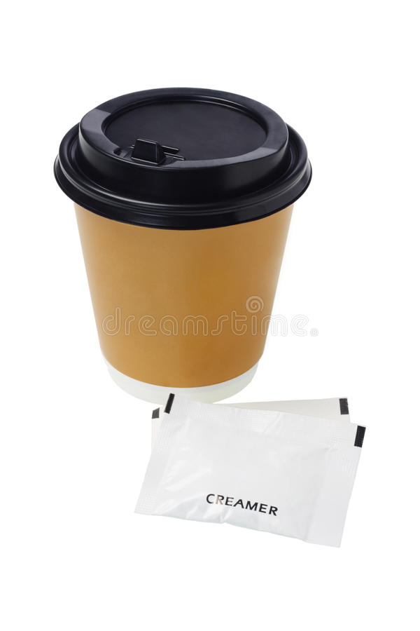 咖啡盛奶油小壶 库存图片