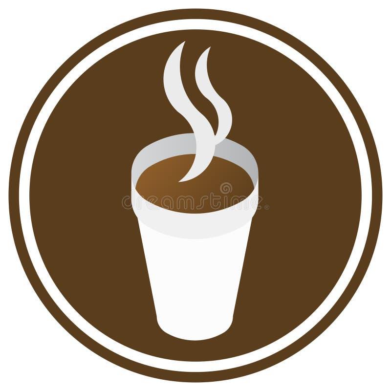 咖啡符号 皇族释放例证
