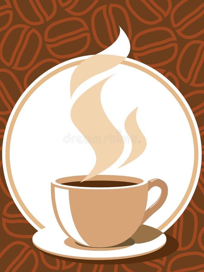 咖啡符号 向量例证