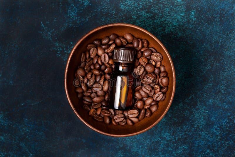 咖啡精油 免版税库存图片