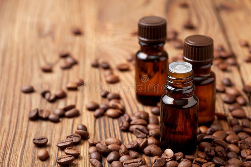 咖啡精油 免版税库存照片