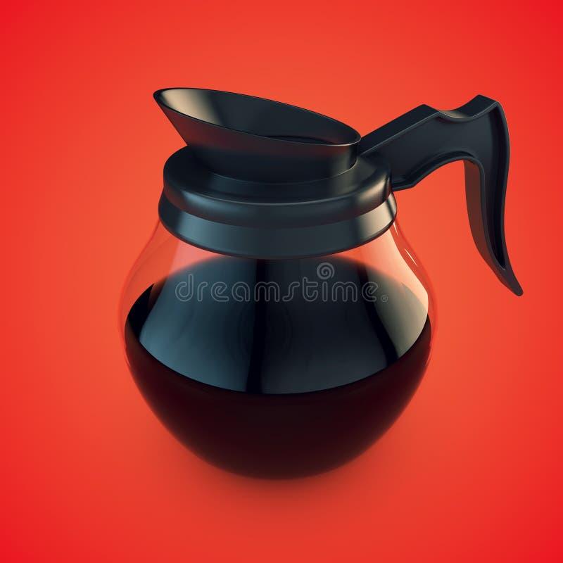 咖啡罐 皇族释放例证