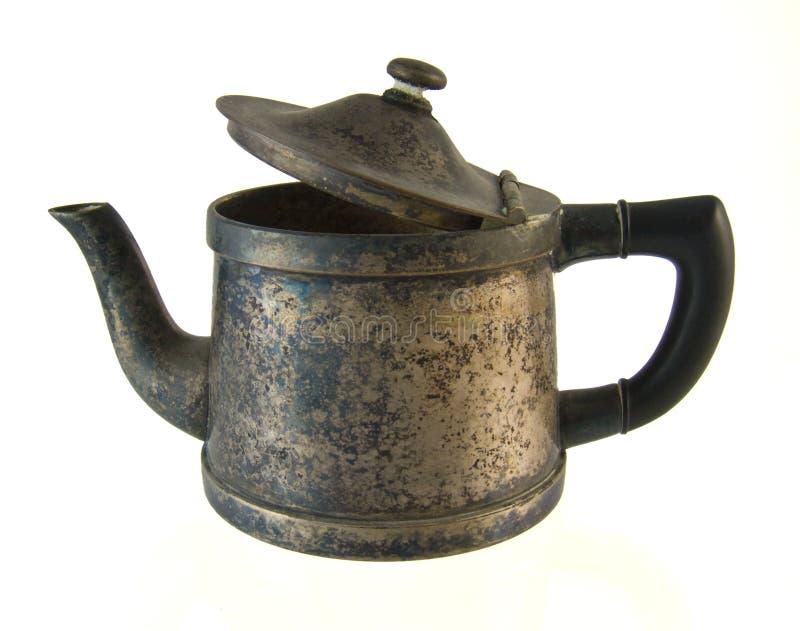 咖啡老罐 库存照片