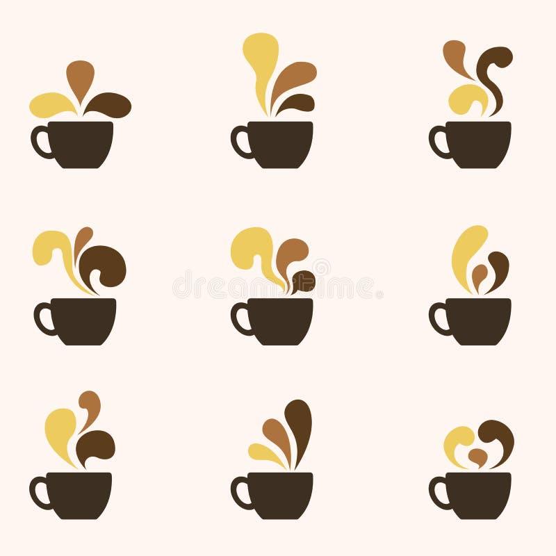 咖啡艺术商标 皇族释放例证