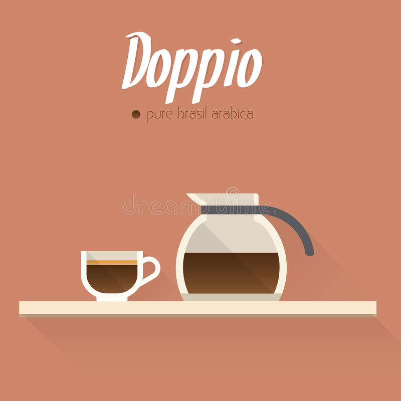 咖啡菜单象 皇族释放例证