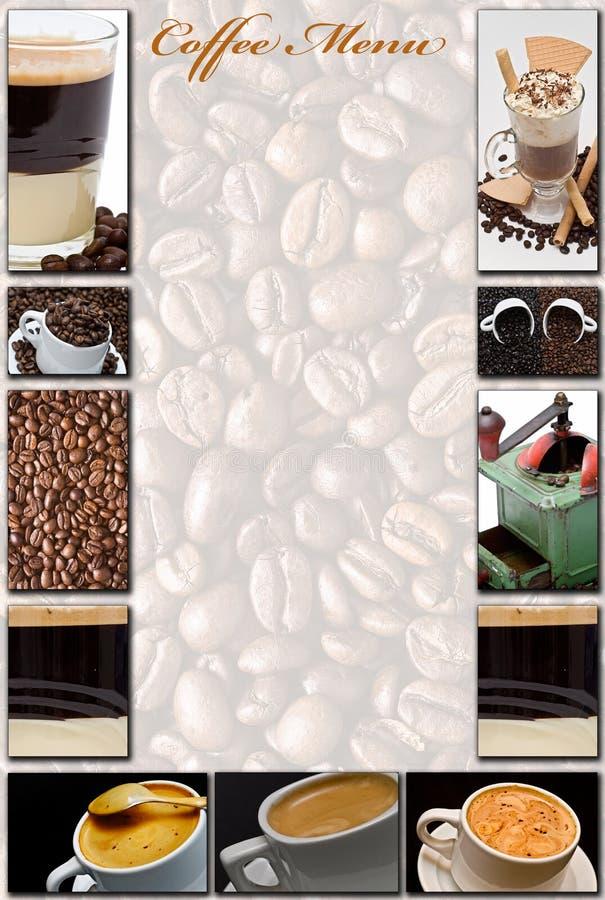 咖啡菜单 免版税库存图片