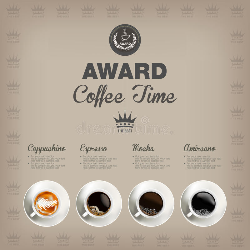 咖啡菜单 库存照片