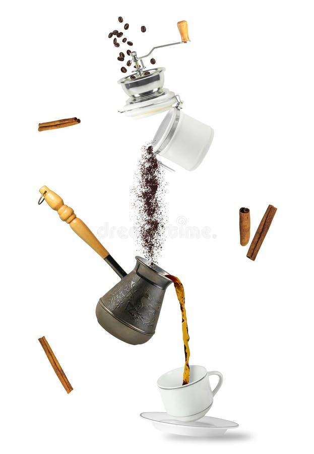 咖啡落 免版税图库摄影