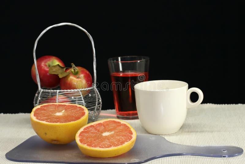 咖啡葡萄柚汁 库存图片