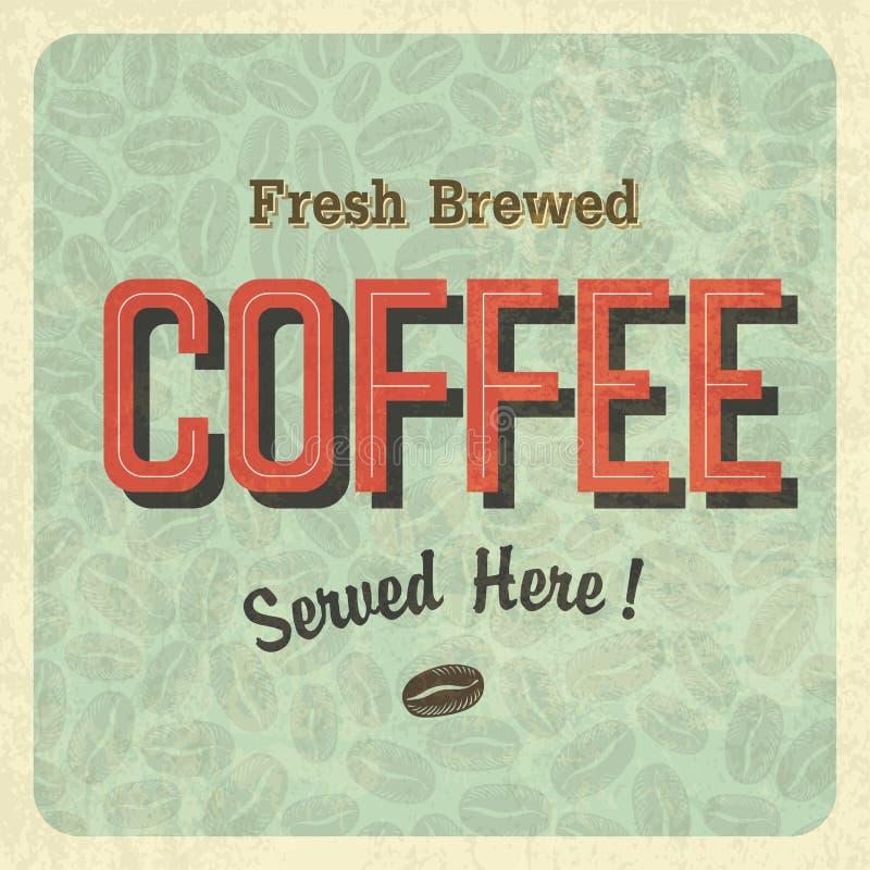 咖啡葡萄酒海报 向量 向量例证