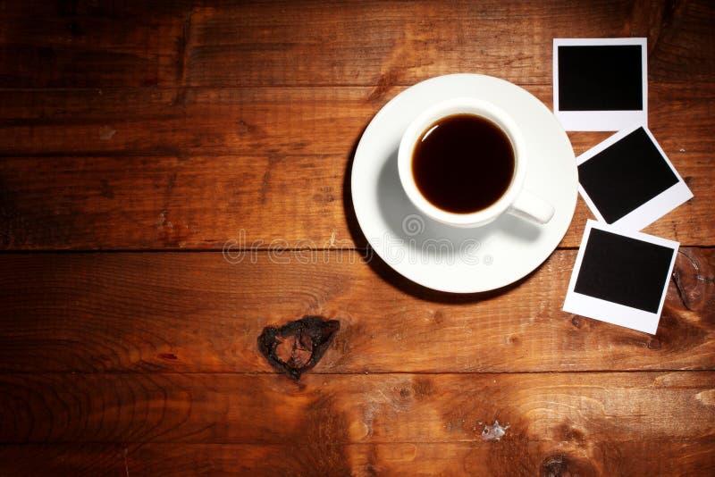 咖啡裱糊照片 库存照片