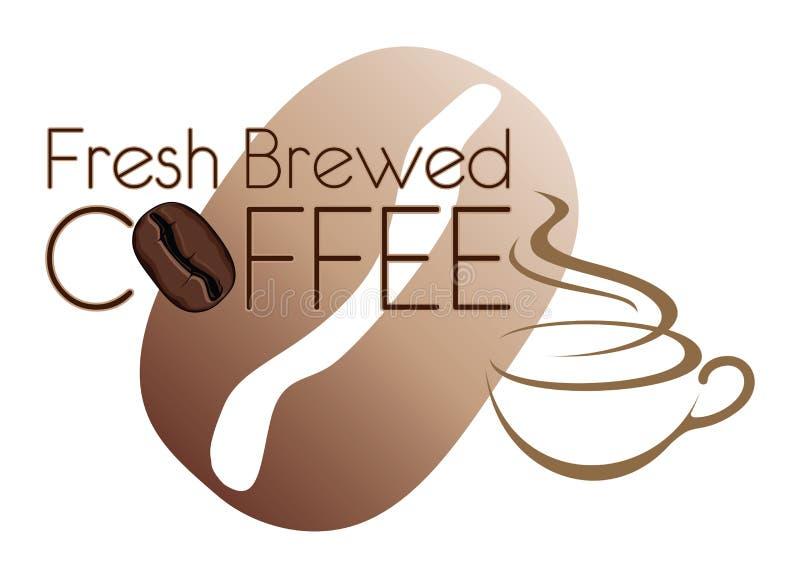 咖啡设计新鲜的酿造的豆 向量例证