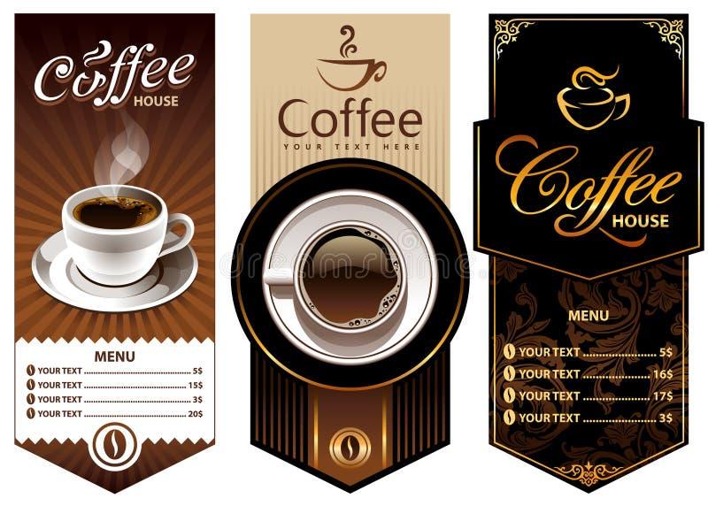 咖啡设计模板三 库存例证