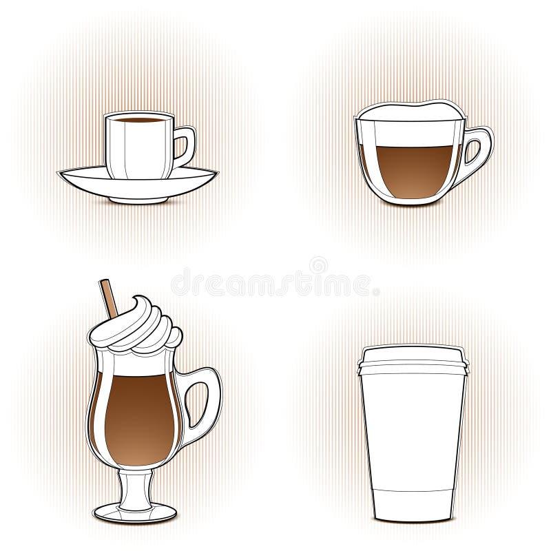 咖啡设计要素 向量例证
