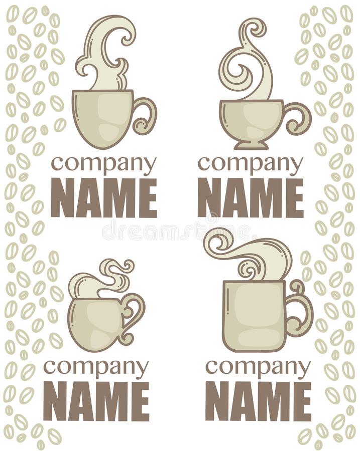 Download 咖啡设计要素茶 向量例证. 插画 包括有 饮料, 奶油, 细分, 热奶咖啡, 制动手, 重点, 徽标, 咖啡馆 - 62538603