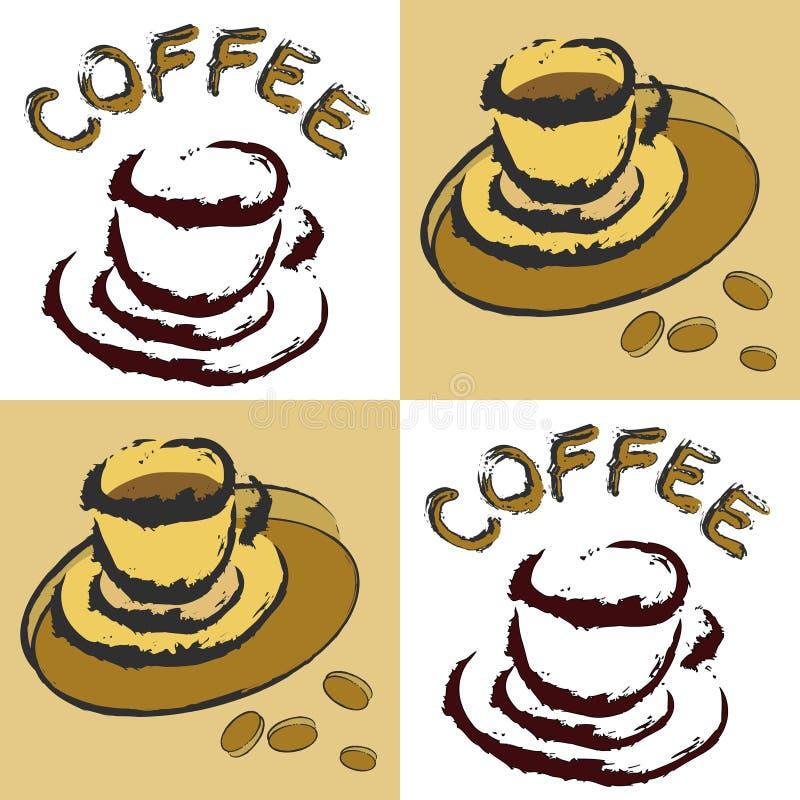 咖啡设计 皇族释放例证