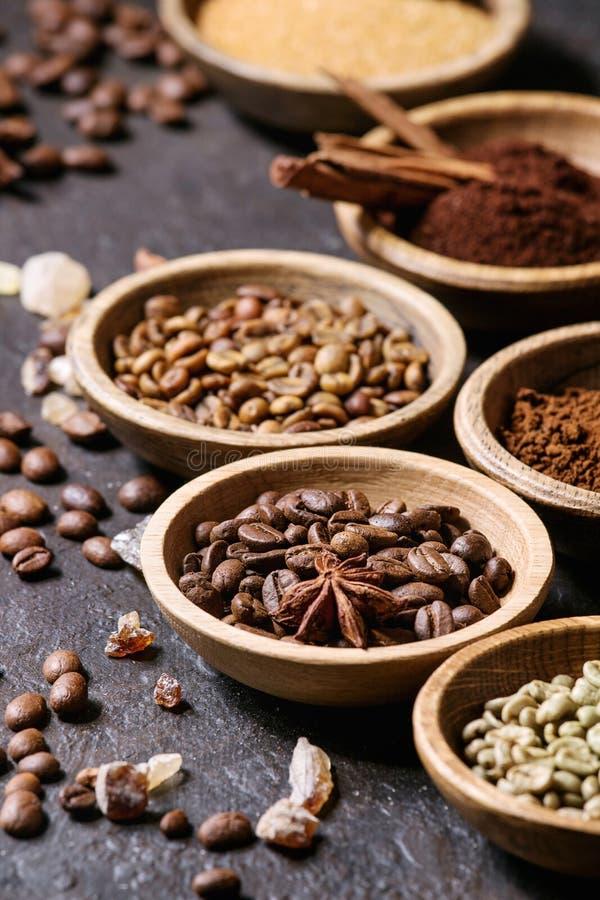 咖啡豆品种  免版税图库摄影