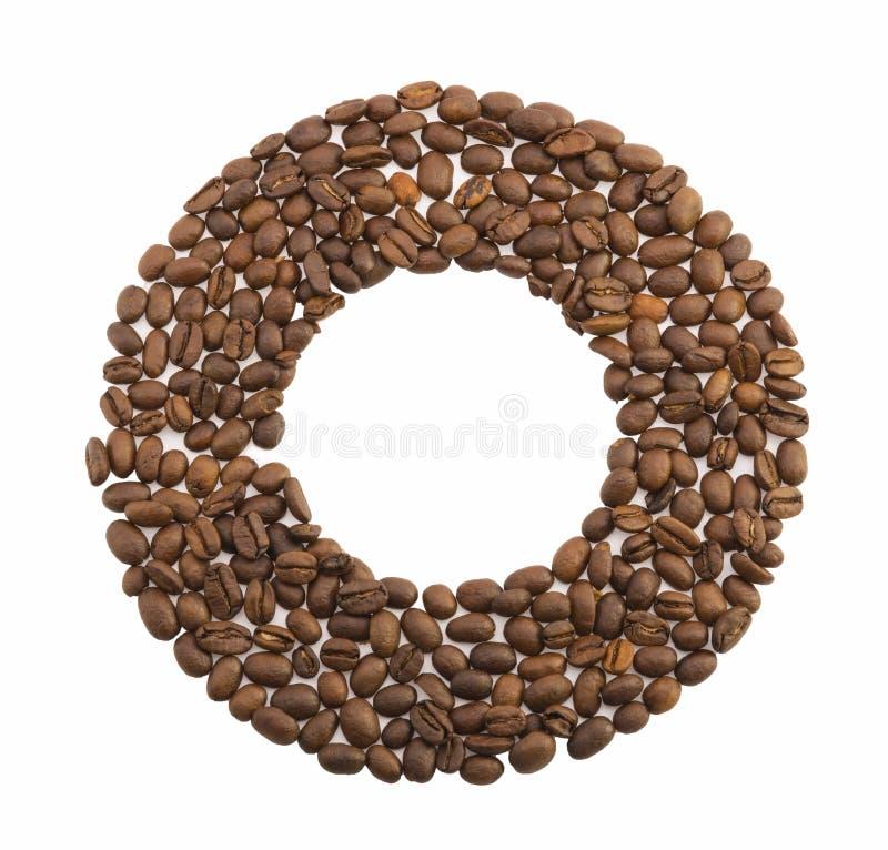 咖啡豆圈子  免版税图库摄影